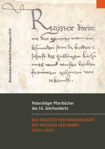 Petershäger Pfarrbücher des 16. Jahrhunderts