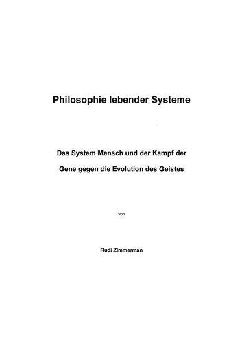 Philosophie lebender Systeme