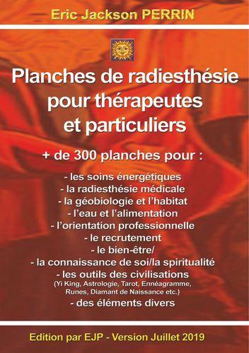 Planches de radiesthésie pour thérapeutes et particuliers