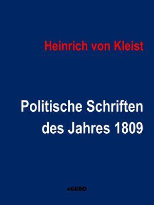Politische Schriften des Jahres 1809