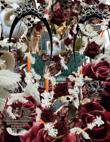 Pretty Poetress Notebook: Boho Wallflowers Cast Dark Spells