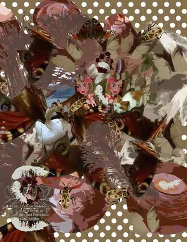 Pretty Poetress Notebook: Lost in a Storm of Butterflies and Porcelain