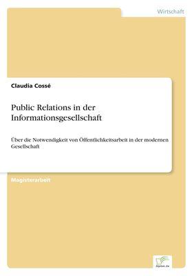 Public Relations in der Informationsgesellschaft