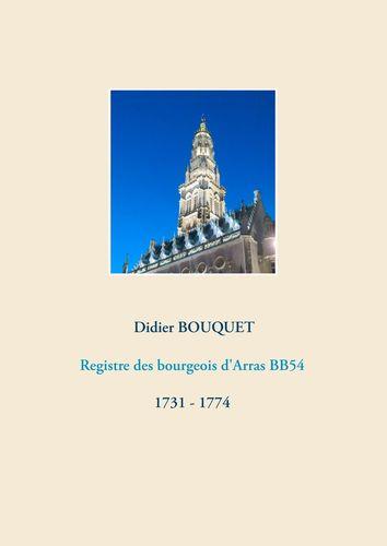 Registre des bourgeois d'Arras BB54 - 1731-1774