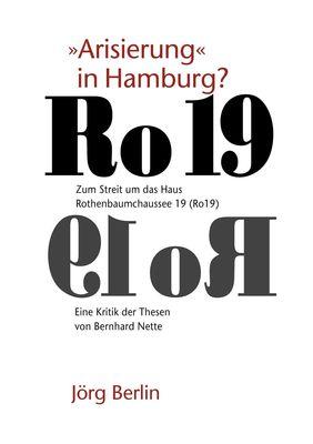 """Ro 19 - """"Arisierung"""" in Hamburg?"""