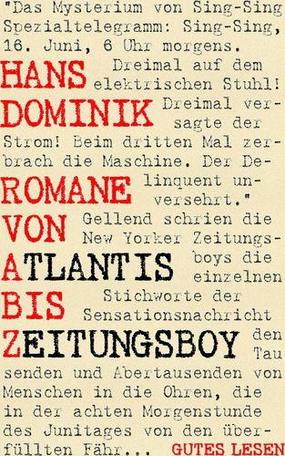 Romane von Atlantis bis Zeitungsboy