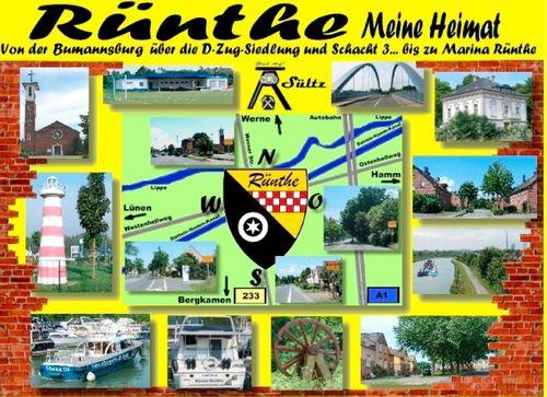 Rünthe - meine Heimat - von der Bumannsburg über die D-Zug-Siedlung und Schacht 3 bis zu Marina Rünthe