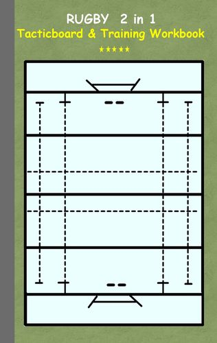 Rugby 2 in 1 Tacticboard and Training Workbook