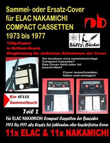 Sammel- oder Ersatz-Cover für ELAC NAKAMICHI COMPACT CASSETTEN 1973 bis 1977