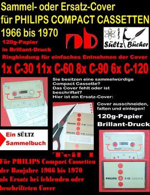 Sammel- oder Ersatz-Cover für PHILIPS COMPACT CASSETTEN 1966 bis 1970