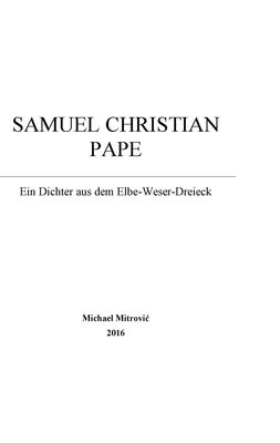 Samuel Christian Pape