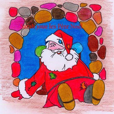 Sarah joue les Père Noël