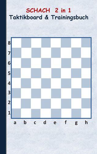 Schach 2 in 1 Taktikboard und Trainingsbuch