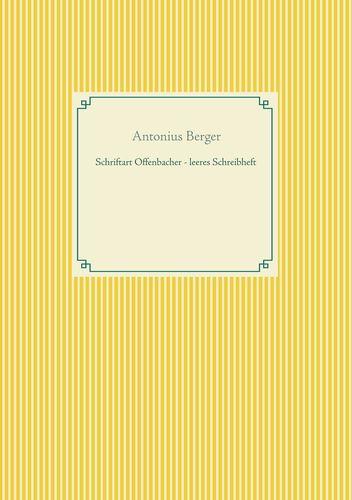 Schriftart Offenbacher - leeres Schreibheft