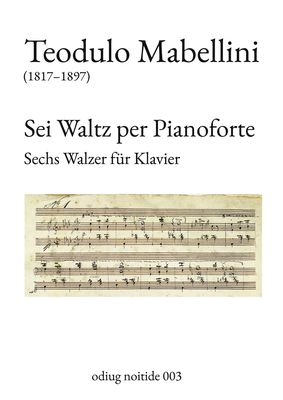 Sei Waltz per Pianoforte