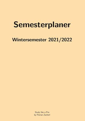 Semesterplan WS202122