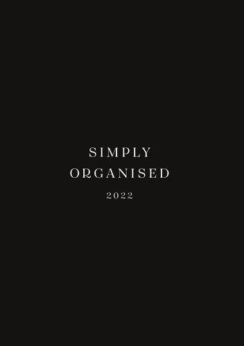 SIMPLY ORGANISED 2022 - premium black