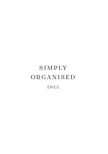 SIMPLY ORGANISED 2022 - premium white