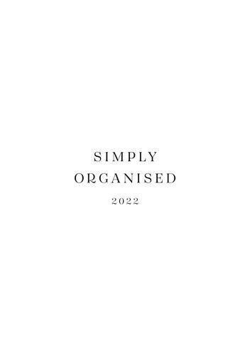 SIMPLY ORGANISED 2022 - simply white