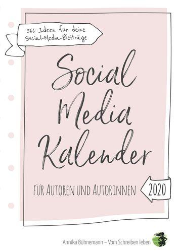 Social Media Kalender für Autoren und Autorinnen (Hardcover-Edition)