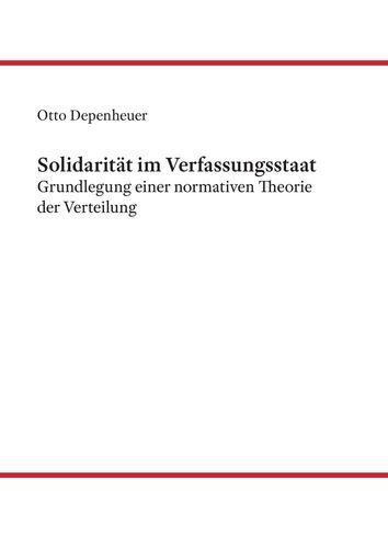 Solidarität im Verfassungsstaat