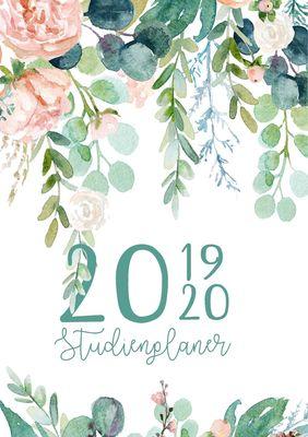 Studienplaner und Semesterkalender für 2019 - 2020 | Ein Studentenkalender und Studentenplaner, Terminplaner, Timer und Kalender für das Studium