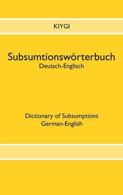 Subsumtionswörterbuch Deutsch-Englisch