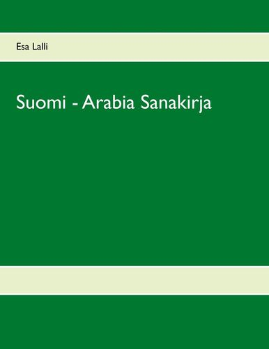 Suomi - Arabia Sanakirja
