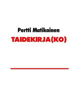 TAIDEKIRJA(KO)