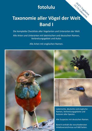 Taxonomie aller Vögel der Welt - Band I