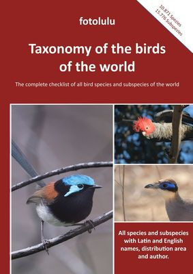 Taxonomy of the birds  of the world