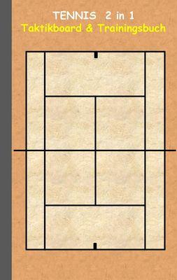 Tennis  2 in 1 Taktikboard und Trainingsbuch