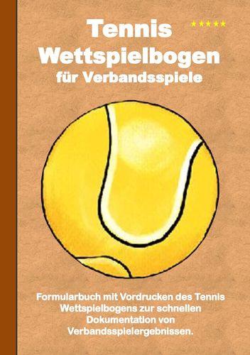 Tennis Wettspielbogen für Verbandsspiele