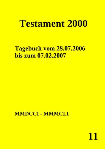 Testament 2000 Band 11