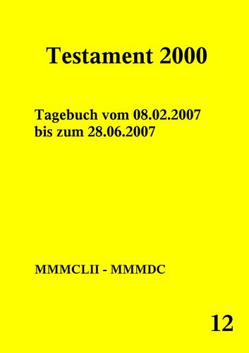 Testament 2000 Band 12