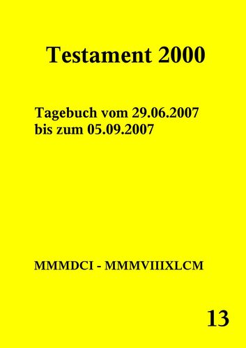 Testament 2000 Band 13