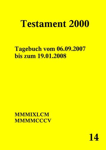 Testament 2000 Band 14