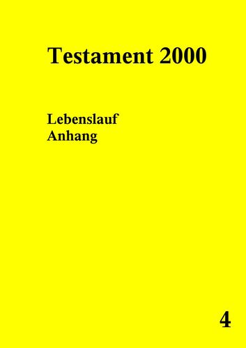 Testament 2000 Band 4