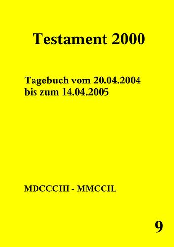 Testament 2000 Band 9