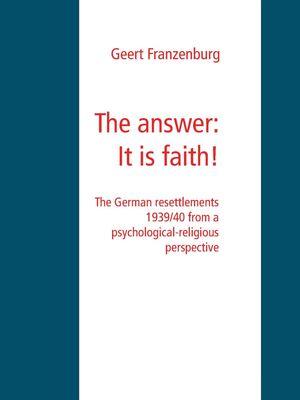 The answer: It is faith!