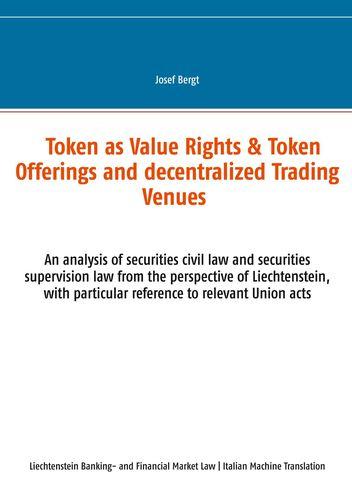Token come Diritti di Valore & Offerte a Token e Centri Commerciali Decentralizzati