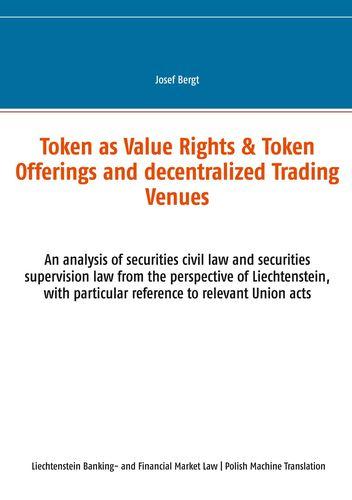 Tokenowe Prawa do Wartosci & Oferty Tokenowe i Zdecentralizowane Centra Handlowe