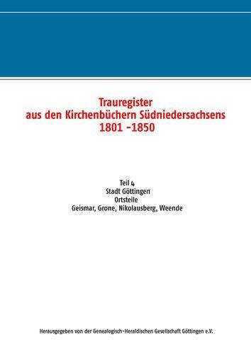 Trauregister aus den Kirchenbüchern Südniedersachsens 1801 -1850