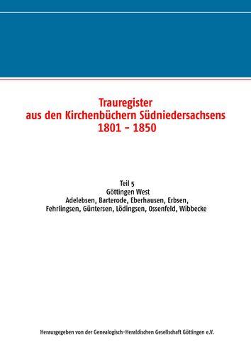 Trauregister aus den Kirchenbüchern Südniedersachsens 1801-1850