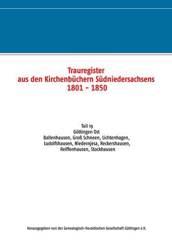 Trauregister aus den Kirchenbüchern Südniedersachsens 1801 - 1850
