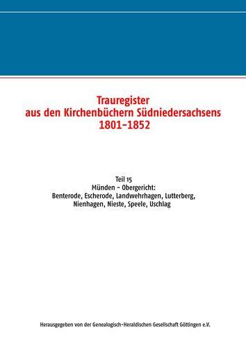 Trauregister aus den Kirchenbüchern Südniedersachsens 1801-1852