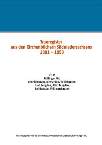 Trauregister aus Kirchenbüchern Südniedersachsens 1801 - 1850