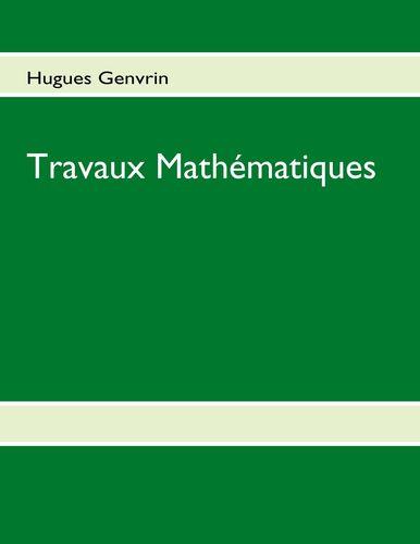 Travaux Mathématiques