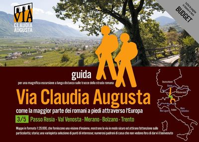trekking VIA CLAUDIA AUGUSTA 3/5 Resia-Trento BUDGET