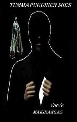 Tummapukuinen mies
